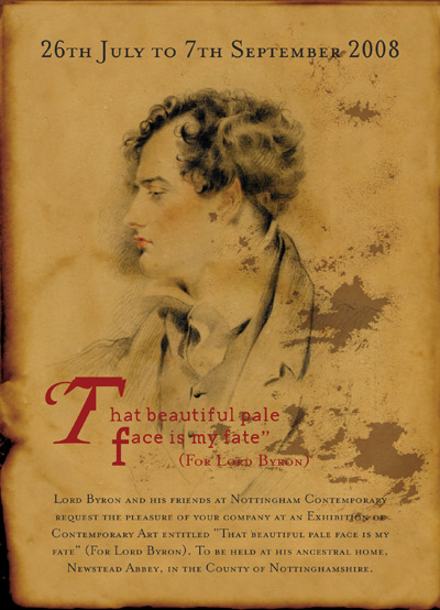 The Lord Byron exhibition flyer