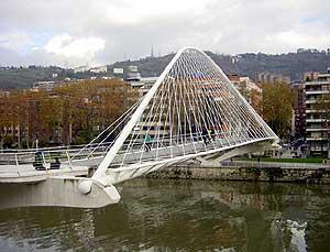 Calatrava's Zubizuri Bridge, Bilbao